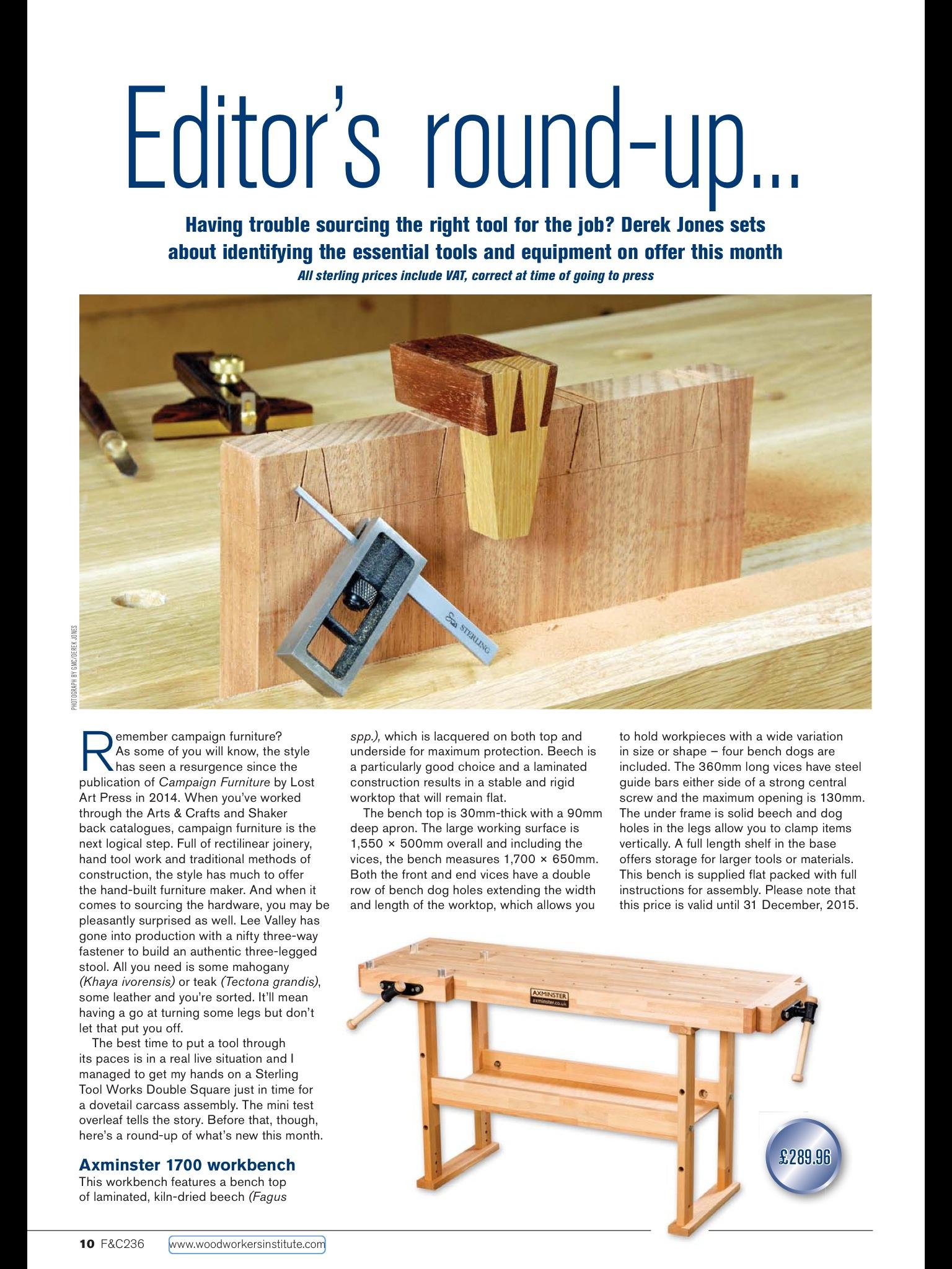 Jones And Jones Furniture Mini Test Of The Sterling Dovetail Square  Furniture